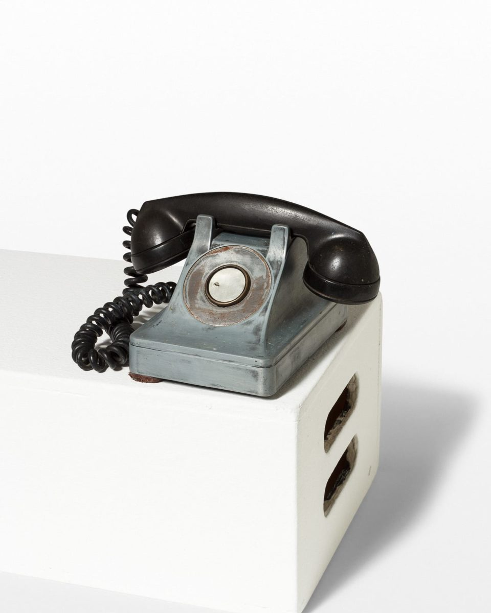 Front view of Steel Single Line Phone
