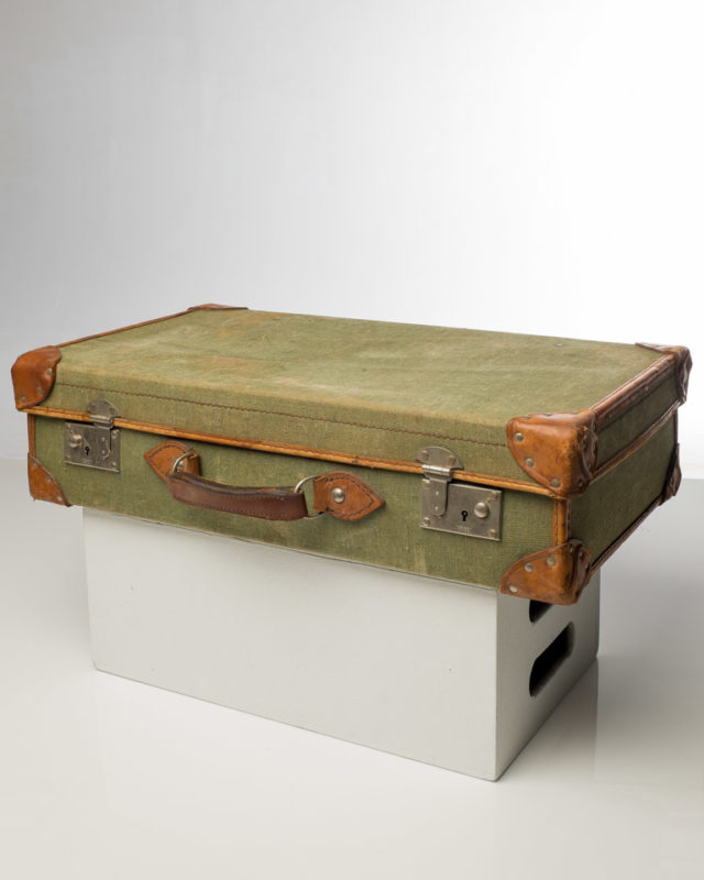 Front view of Vintage Cloth Luggage