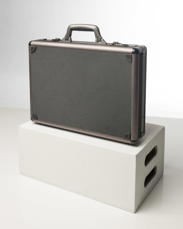 Front view of Grey Briefcase