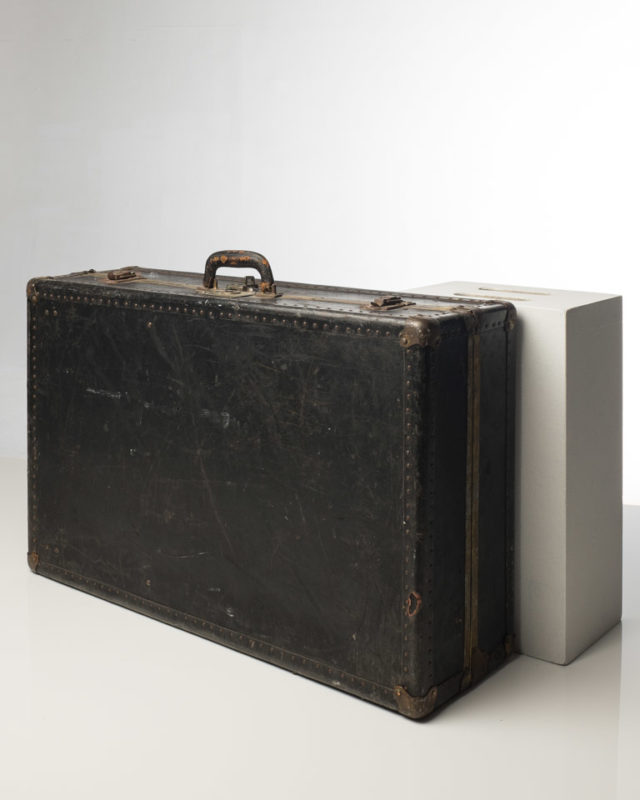 Front view of Rigid Black Suitcase
