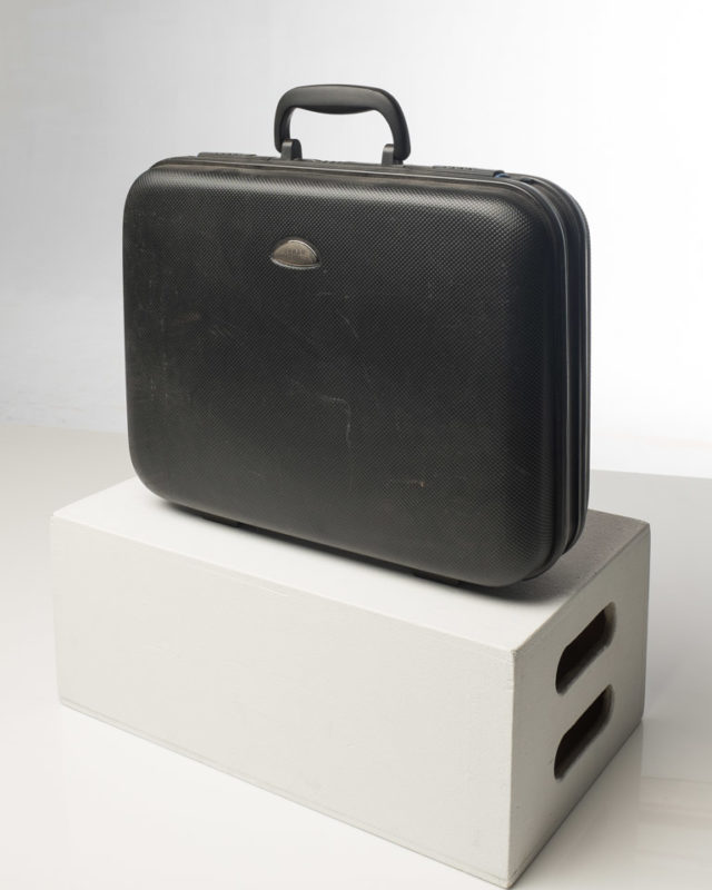 Front view of Ambassador Black Briefcase