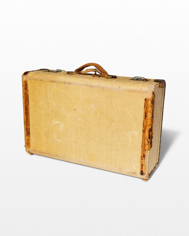 Front view of Vintage Yellow Suitcase