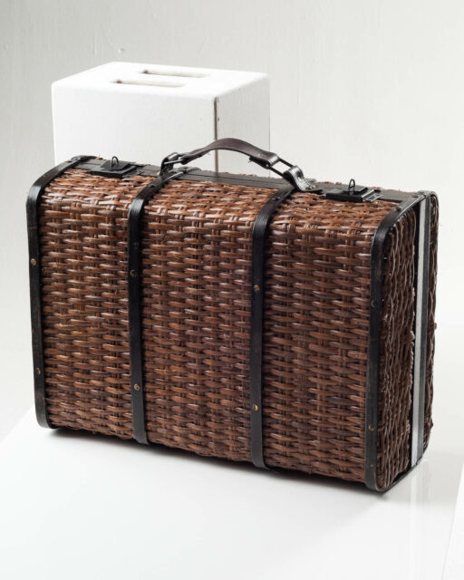 Front view of Monaco Wicker Suitcase