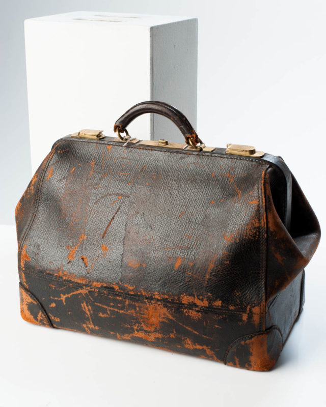 Front view of Distressed Cross Bag
