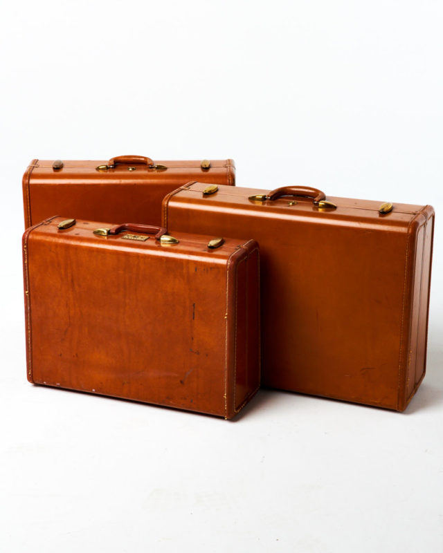 Front view of Byrd Luggage Set