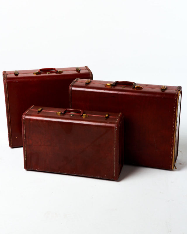 Front view of Cole Luggage Set