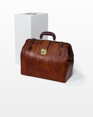 Front view of Cabot Leather Duffle