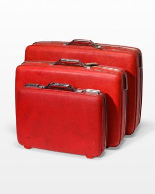 Front view of Francisco Red Luggage