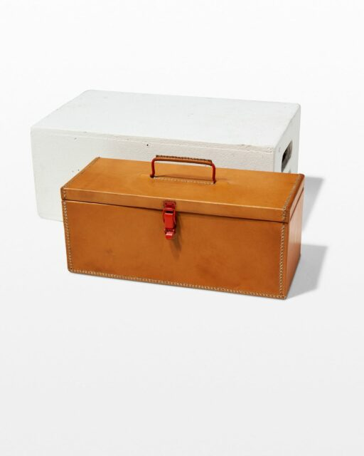 Front view of Victor Leather Tool Box