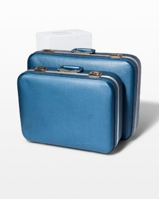 Front view of Barclay Blue Luggage Set
