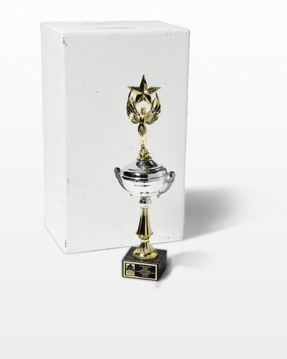 Front view of Iris Trophy
