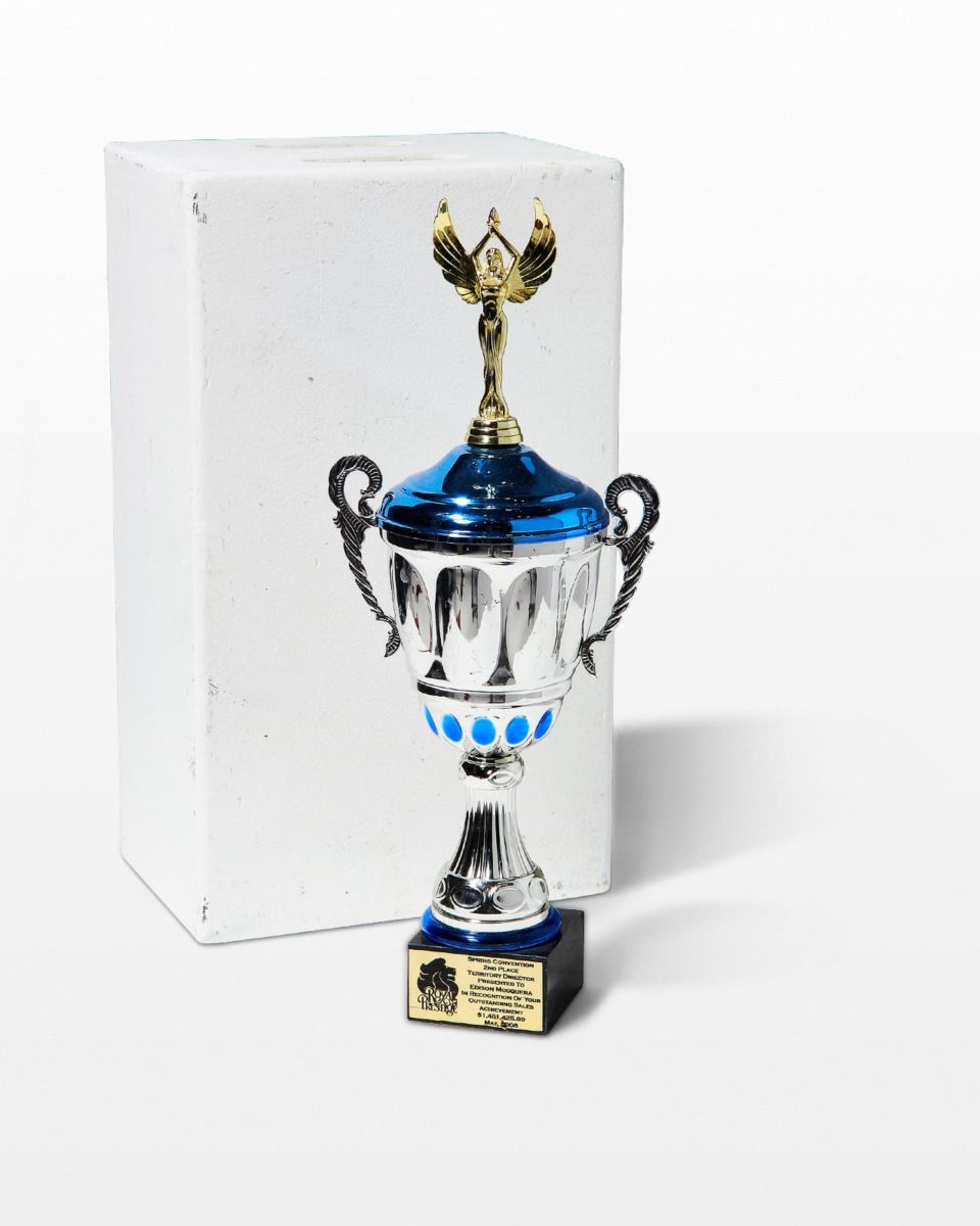 Front view of Joan Trophy