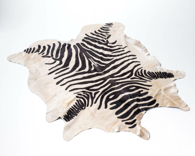 Front view of Faux Zebra Hide