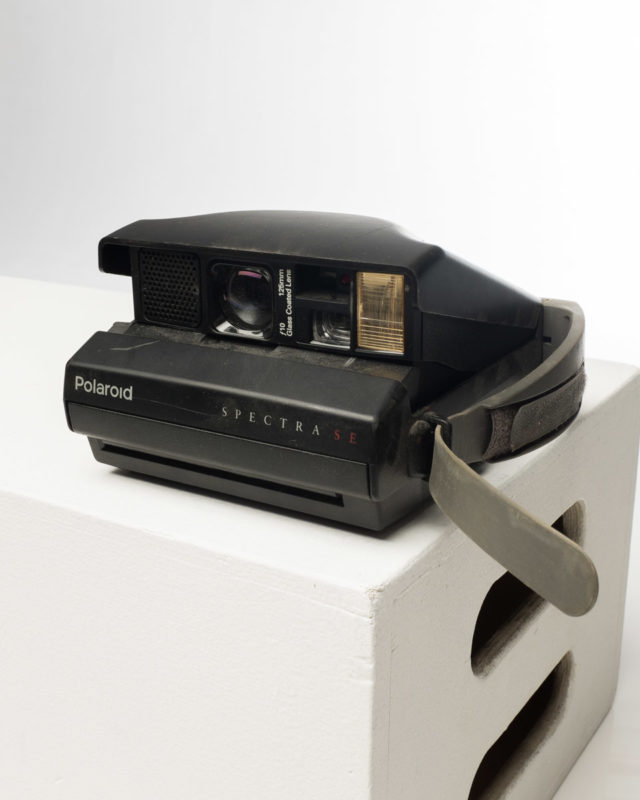 Front view of Polaroid Spectra SE Camera