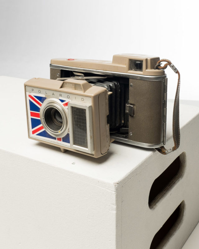 Front view of Union Jack Polaroid Land Camera