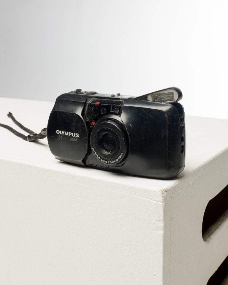 Front view of Olympus Stylus Point and Shoot Camera