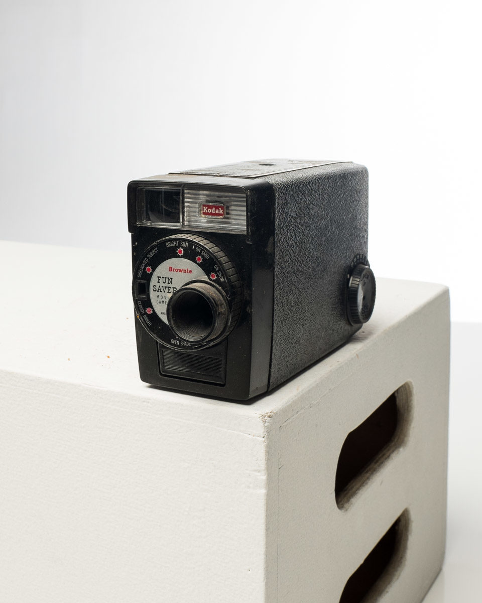 Front view of Kodak Brownie Movie Camera