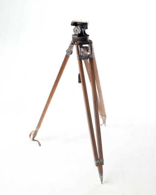 Front view of Wooden Camera Tripod