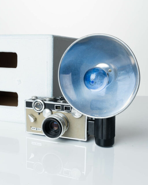 Front view of Argus C3 Match-Matic with Flash Camera