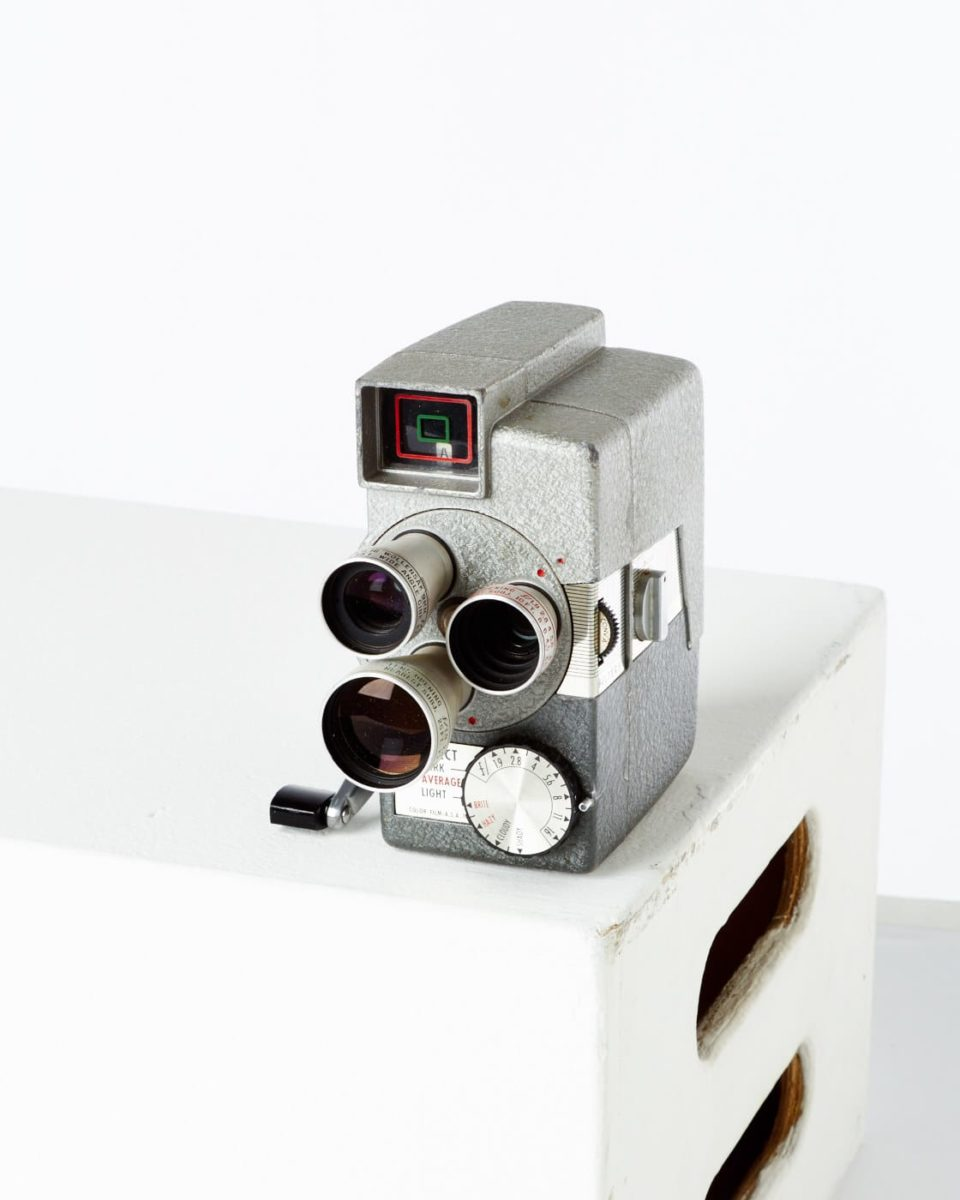 Front view of Wollensak Home Movie Camera