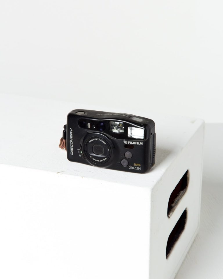 Front view of  Fuji Discovery Point and Shoot Camera