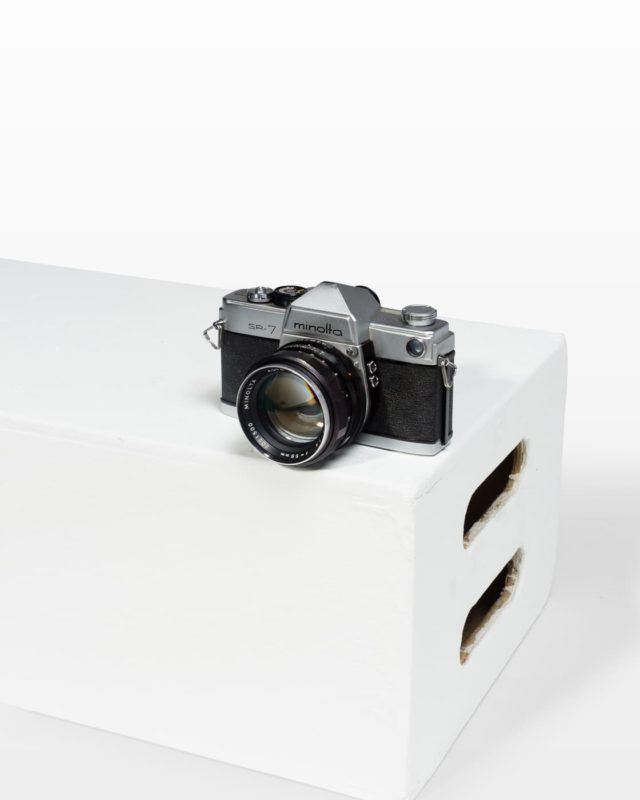 Front view of Minolta SR-7 Camera