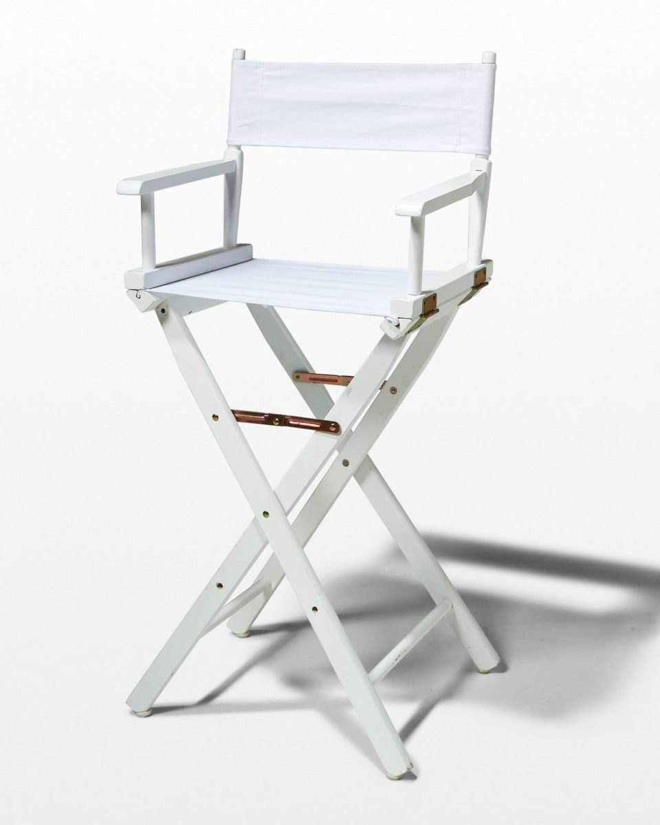 Front view of Plain White Director's Chair