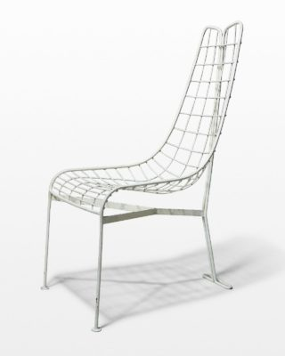 Front view of White Lean Chair