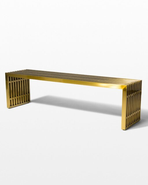 Front view of Brass Stripe Bench