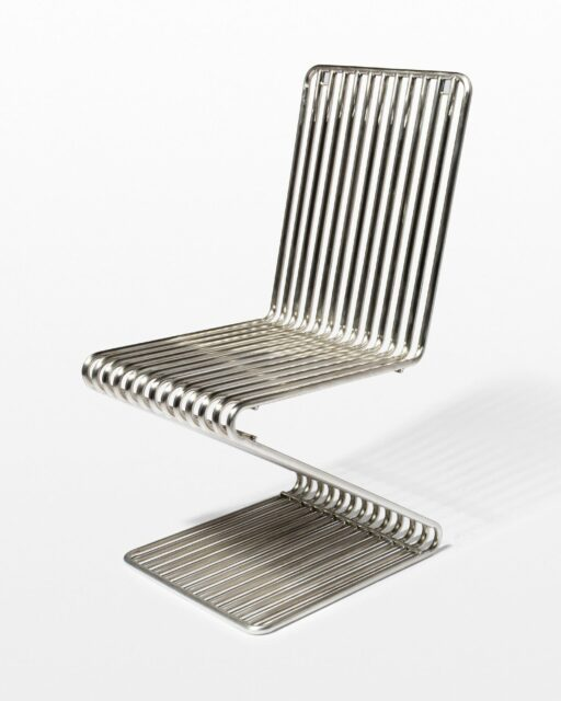 Front view of Silver Stripe Z Chair