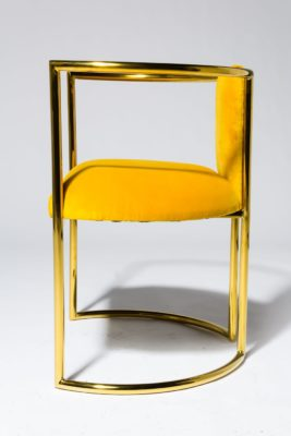 Alternate view 2 of Marigold Velvet and Gold Chair
