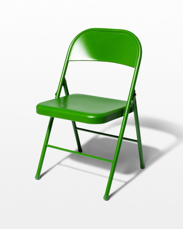 Front view of Green Folding Chair