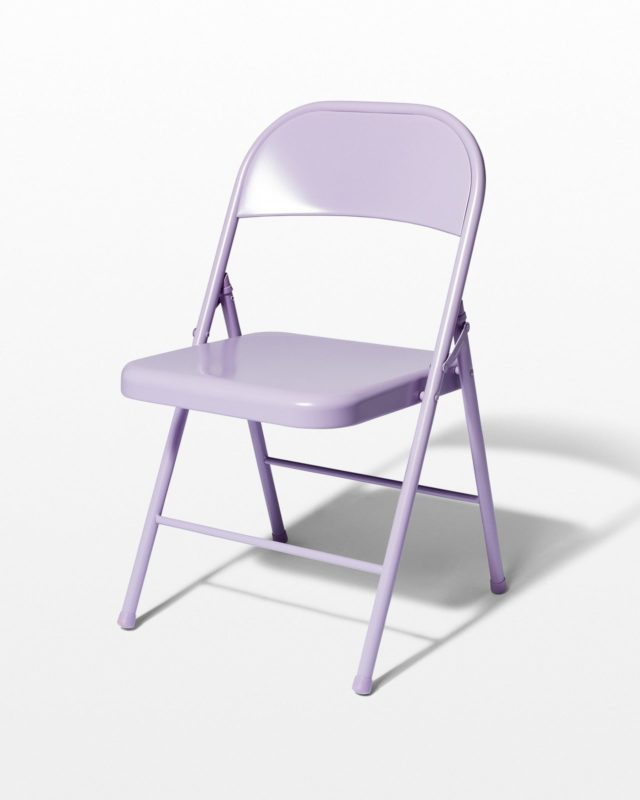 Front view of Violet Folding Chair