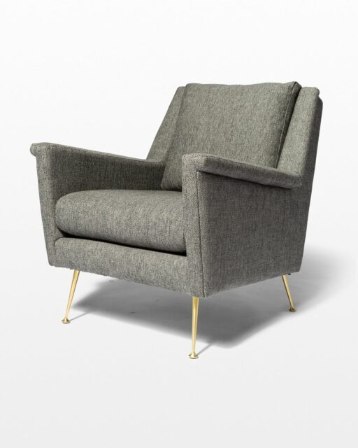 Front view of Carolyn Grey Twill Armchair