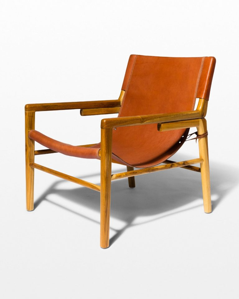 Front view of Milton Leather Safari Chair