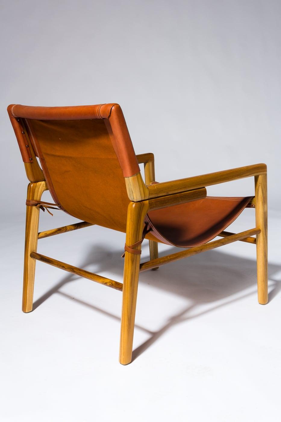 Ch558 Milton Leather Safari Chair Prop Rental Acme Brooklyn