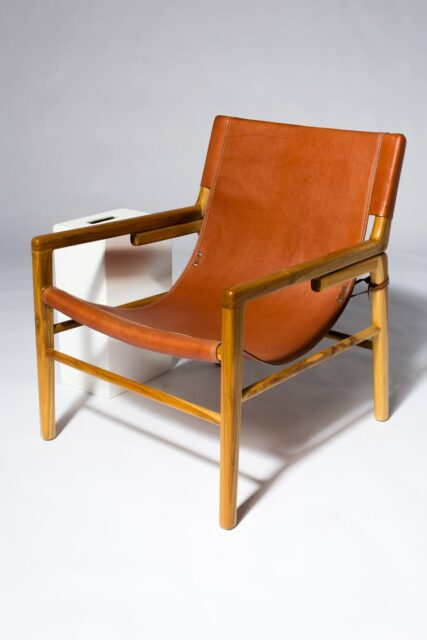 Alternate view 1 of Milton Leather Safari Chair
