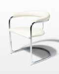 Front view thumbnail of Aidan White Cantilever Chair