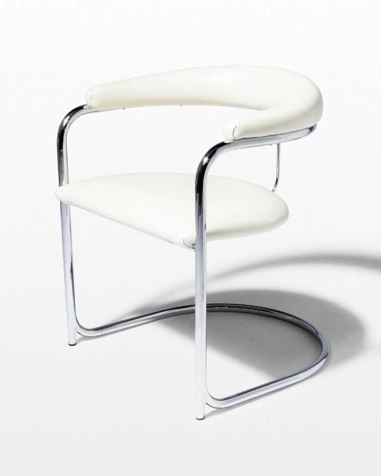 Front view of Aidan White Cantilever Chair