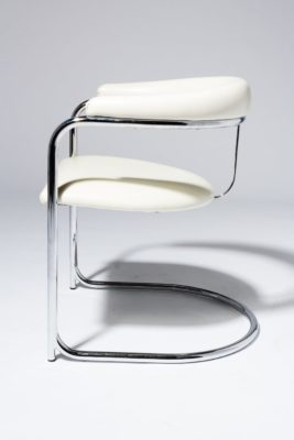 Alternate view 2 of Aidan White Cantilever Chair