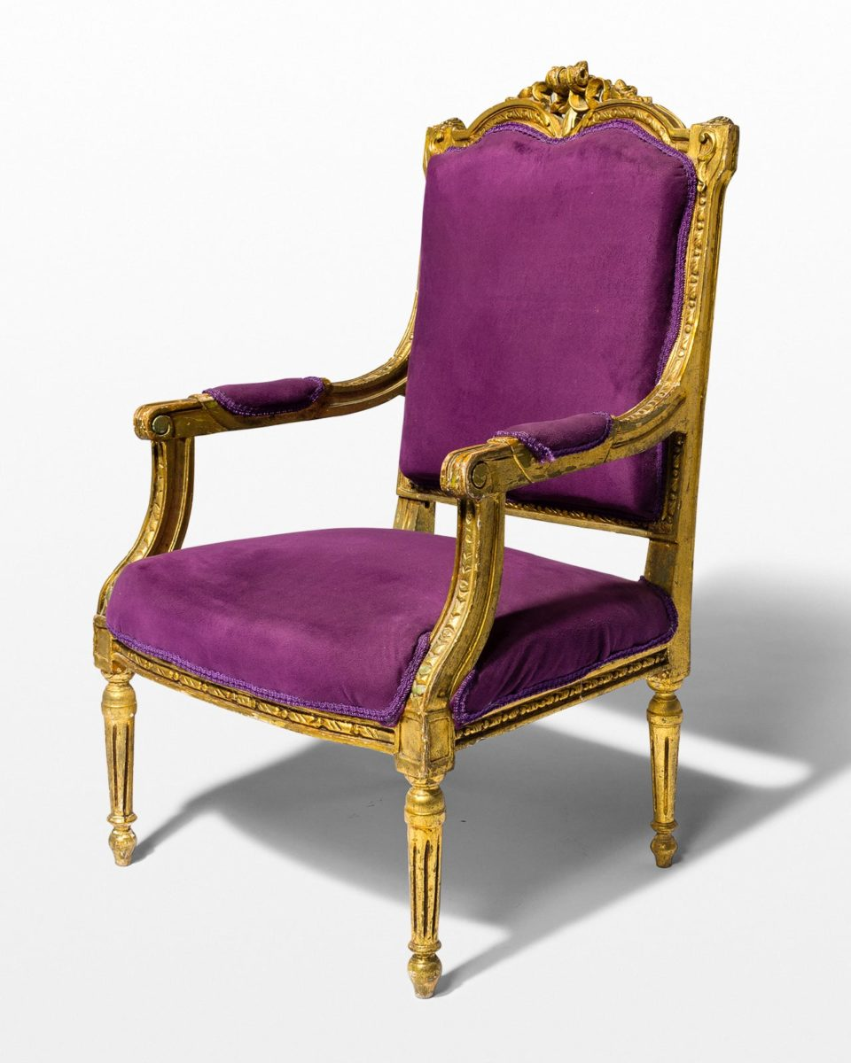 Front view of Rogers Purple Throne