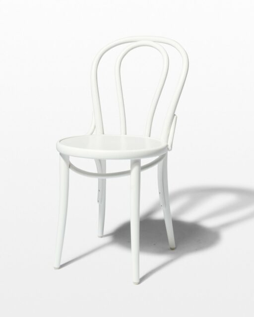 Front view of Jonah White Cafe Chair