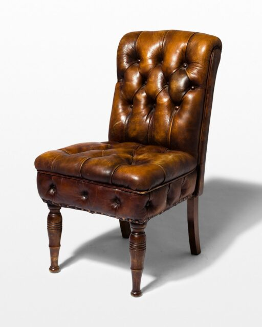 Front view of Aiden Brown Leather Chair