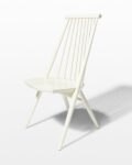 Front view thumbnail of Moto White Spindle Chair