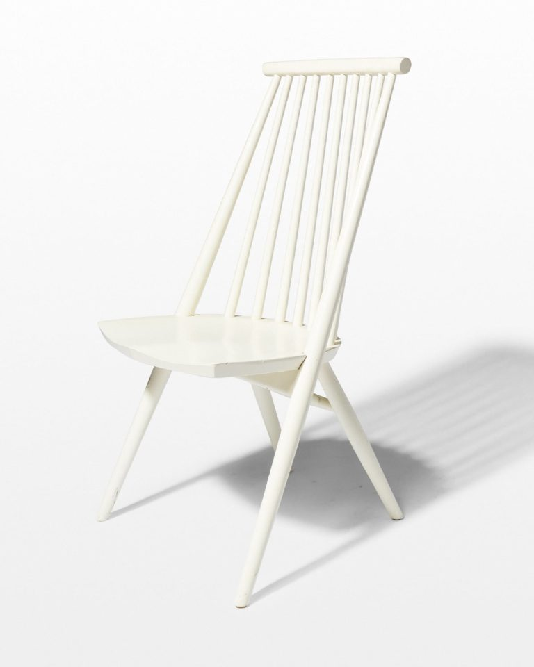 Front view of Moto White Spindle Chair