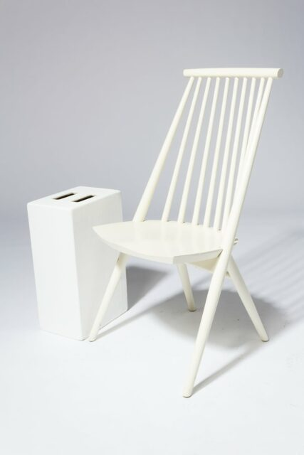 Alternate view 1 of Moto White Spindle Chair