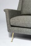 Alternate view thumbnail 4 of Carolyn Grey Twill Sofa