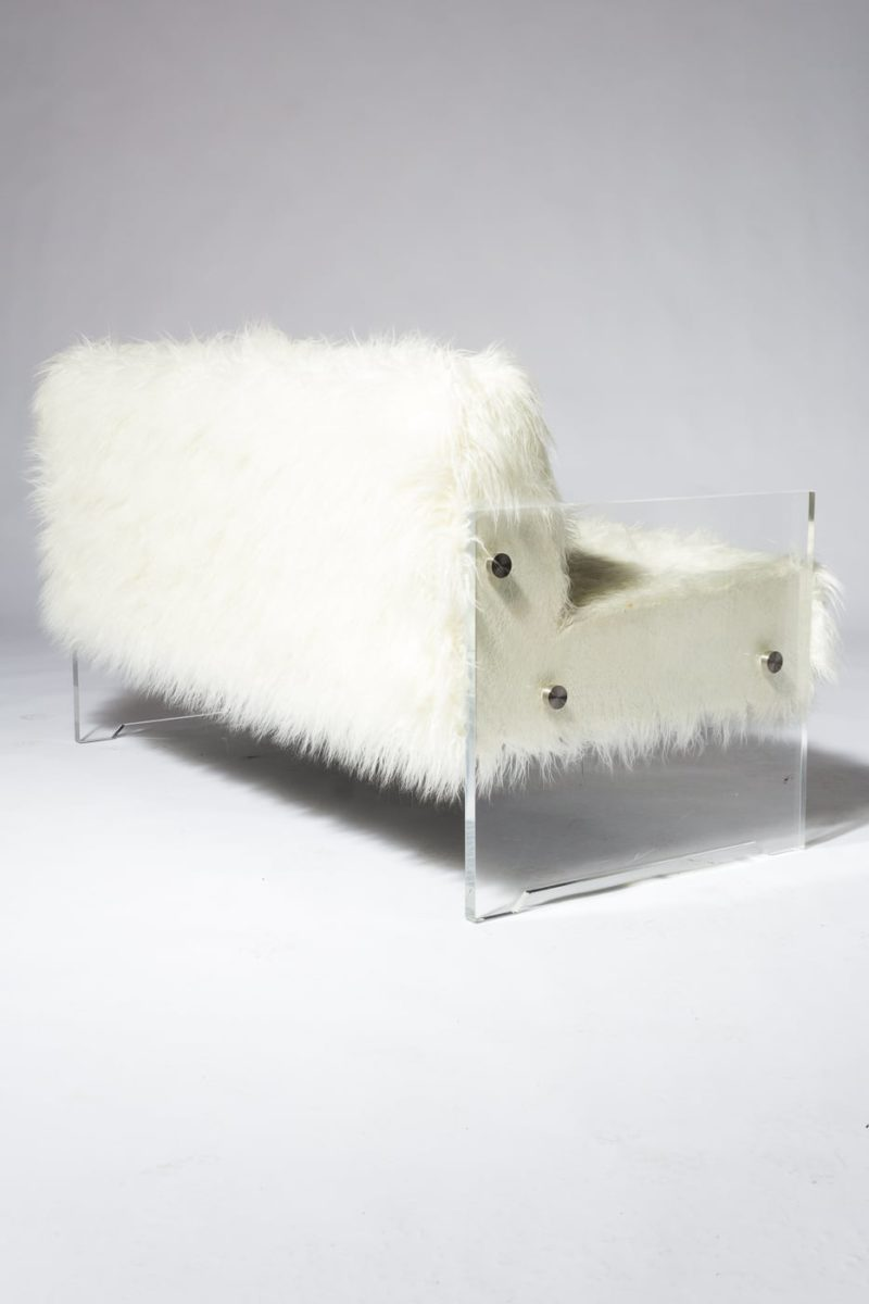 Alternate view 1 of Myst Acrylic and Fur Love Seat