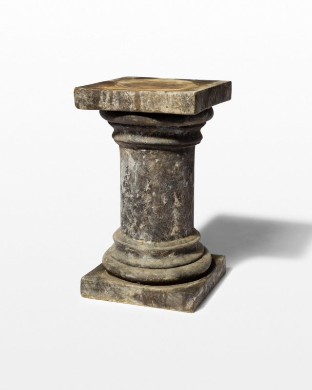 Front view of Kelvin Distressed Column Pedestal