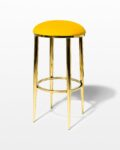 Front view thumbnail of Marigold Velvet and Gold Stool